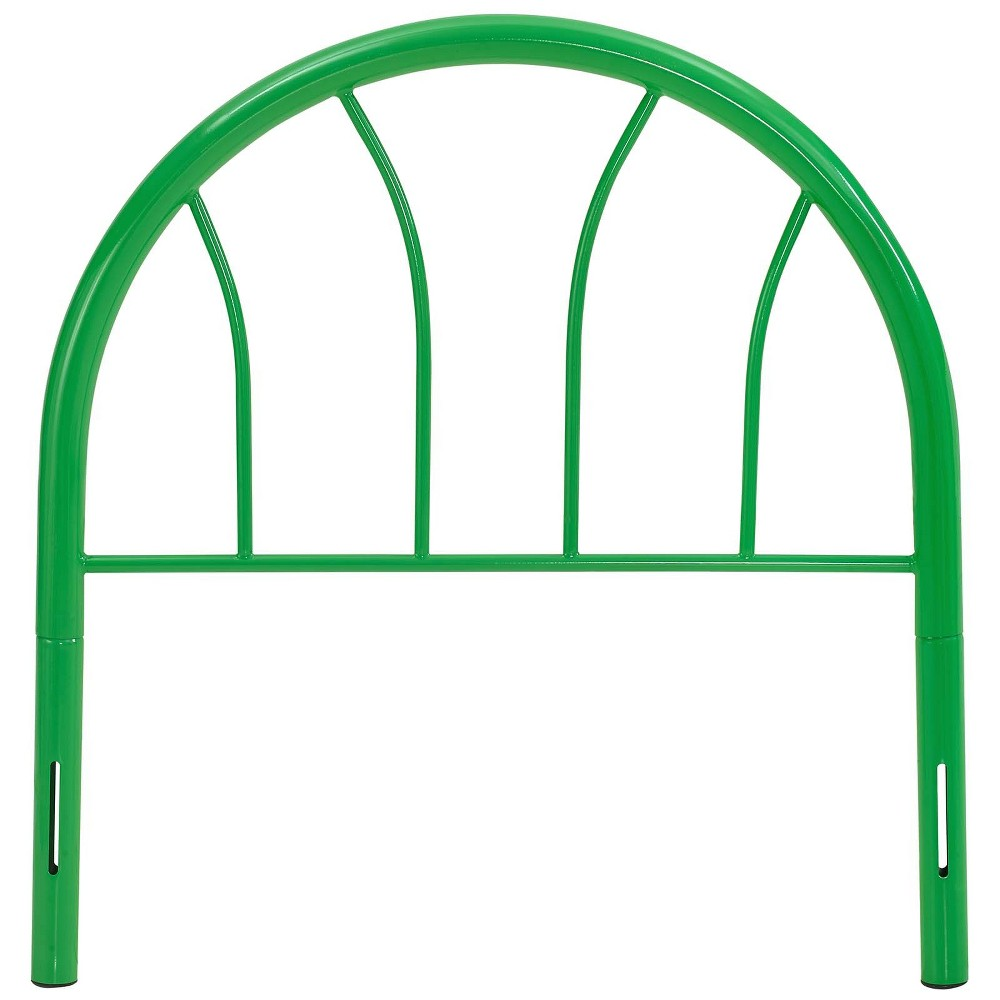 Image of Damaris Twin Steel Headboard Green - Modway