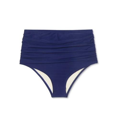 ae68335e4d2a2c Maternity High Waist Shirred Bikini Swim Bottom - Sea Angel Indigo. Shop  all Sea Angel