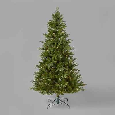 7ft Pre-Lit Full Balsam Fir Artificial Christmas Tree Clear Lights - Wondershop™