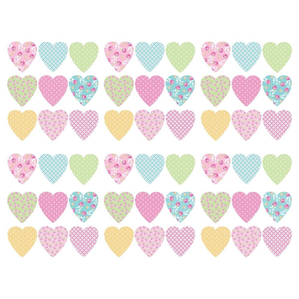 WallPops! Pretty Flowers Stikarounds - Pink/Green