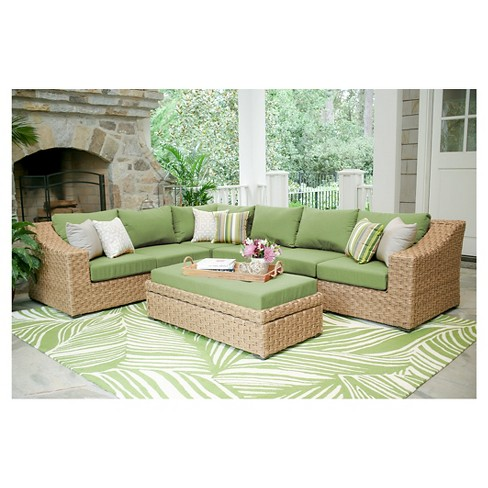 Elizabeth 6-Piece Sectional with Sunbrella Fabric Spectrum - Cilantro - image 1 of 5