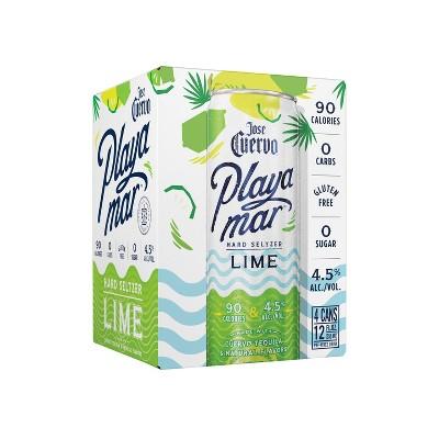 Jose Cuervo Playamar Lime Hard Seltzer - 4pk/355ml Cans