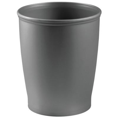 mDesign Modern Plastic Round Small Trash Can Wastebasket