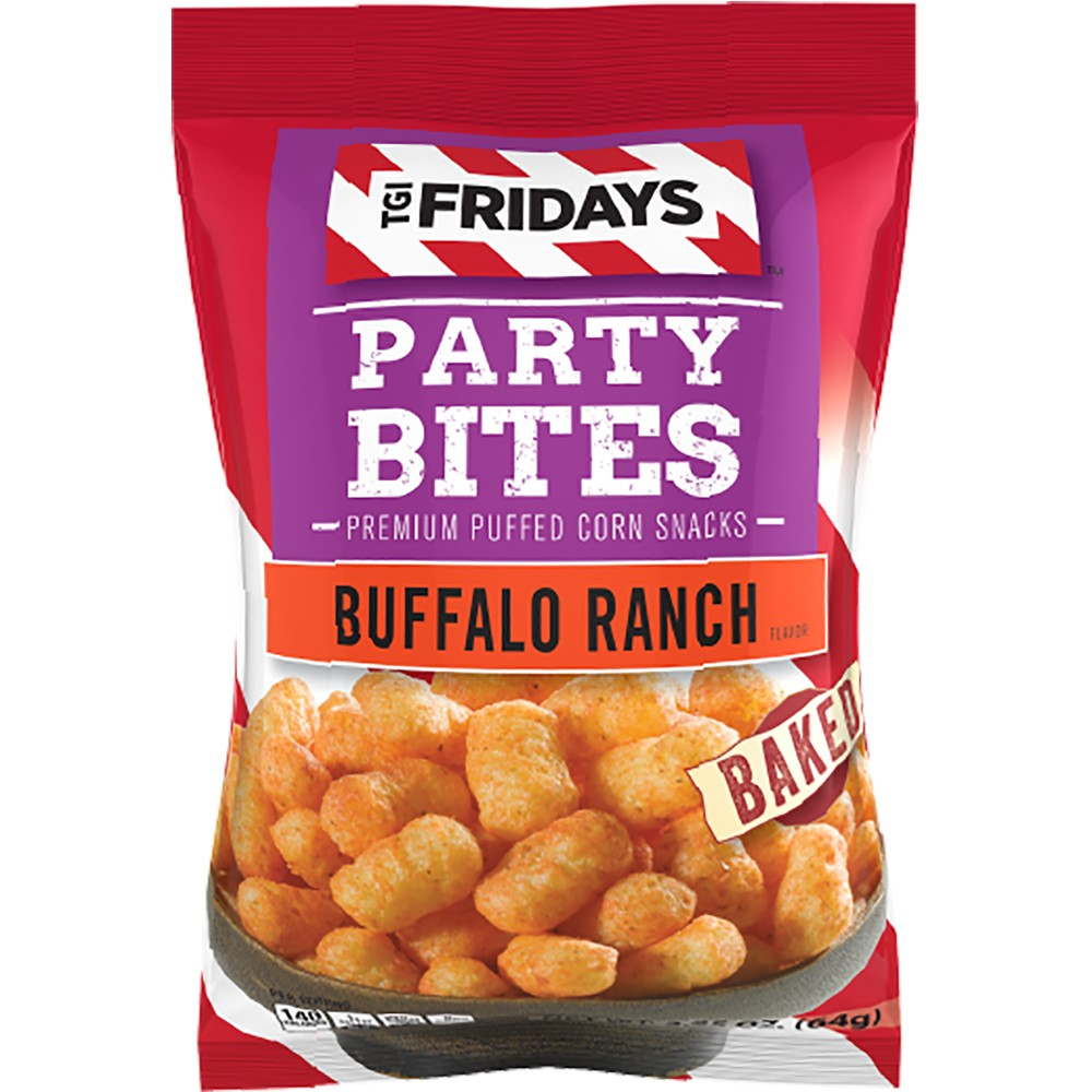 T.G.I. Friday's Buffalo Ranch Party Bites Premium Puffed Corn Snacks - 4.5oz