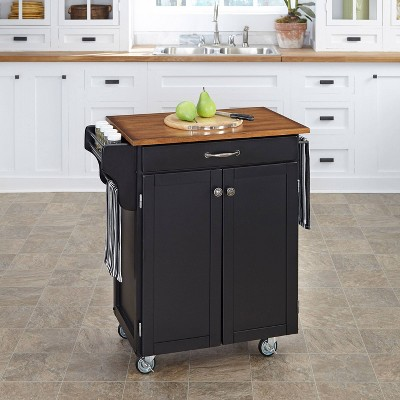 Cuisine Kitchen Cart Black Base - Home Styles