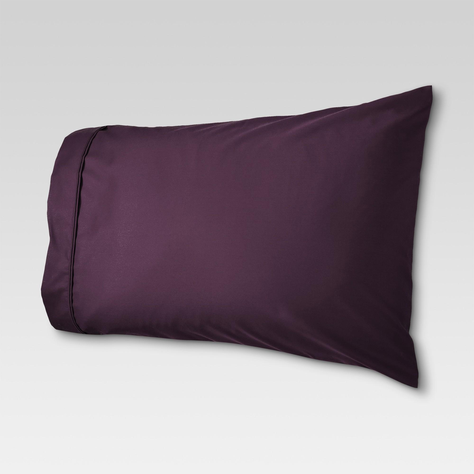 Performance Solid Pillowcase (Standard) Set Dark Purple 400 Thread Count - Threshold