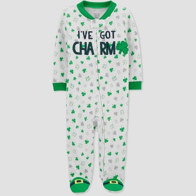 Baby Shamrock Print Sleep N' Play - Just One You® made by carter's White 3M