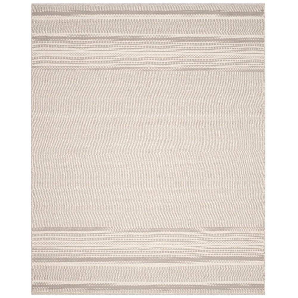 Stripe Woven Area Rug Gray/Ivory