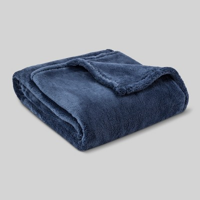 Fuzzy Throw Blanket Blue - Threshold™