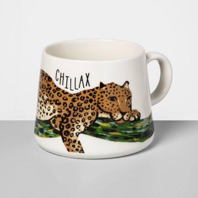 16oz Porcelain Chillax Mug White - Opalhouse™