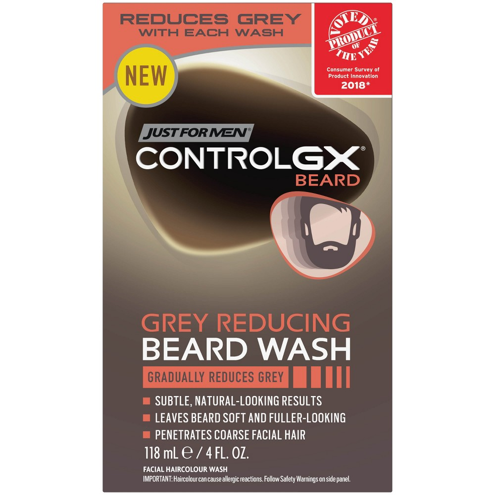 Image of Just For Men Control GX Gray Reducing Beard Wash - 4 fl oz