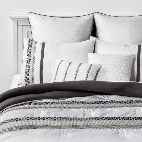 Charu 8pc Bed Set Gray/Black - image 1 of 4