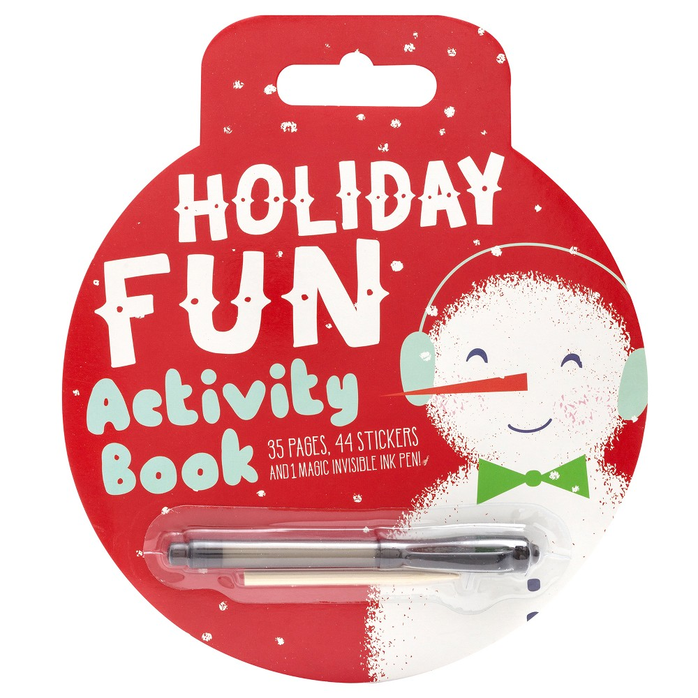 35pg Holiday Fun Activity Book with Pen - Wondershop, Multi-Colored