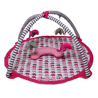 Bacati - Baby Activity Gyms & Playmats (Elephants Pink/Grey)
