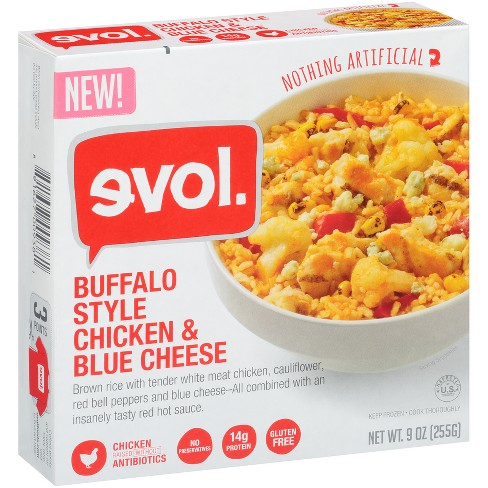 Evol Buffalo Style Chicken & Blue Cheese Frozen Prepared Meals - 9oz - image 1 of 1