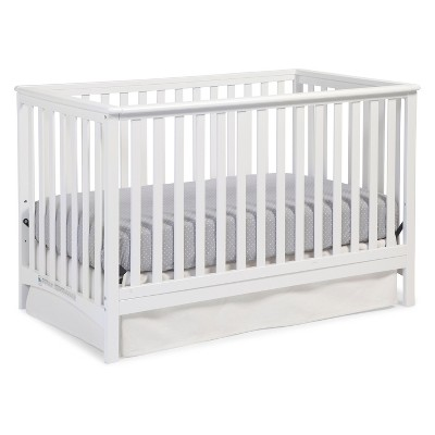 Stork Craft Hillcrest Fixed Side Convertible Crib - White