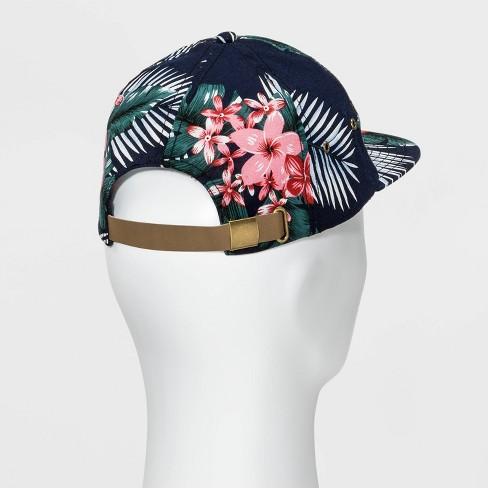 Men s Floral Print Slouch Baseball Hat - Goodfellow   Co™ Navy One Size    Target bff64e2c633