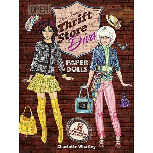 Thrift Store Diva Paper Dolls - (Dover Paper Dolls) by  Charlotte Whatley (Paperback) - image 1 of 1