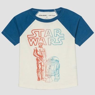Toddler Boys' Junk Food Star Wars Short Sleeve Graphic T-Shirt - White 12M