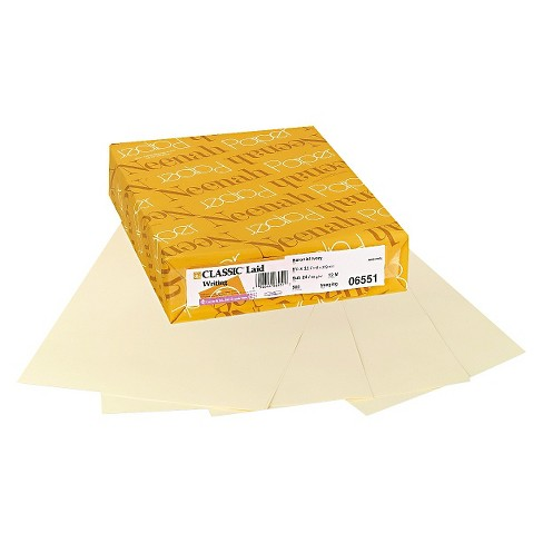 Neenah Paper Classic Laid Stationery Writing Paper, 24-lb, 8-1/2 x 11, Baronial Ivory, 500/Rm - image 1 of 1
