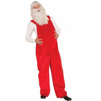 Santa's Red Costume Overalls Adult