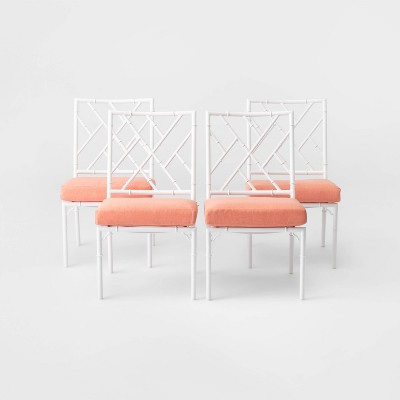 Pomelo 4pk Patio Dining Chair - Coral - Opalhouse™