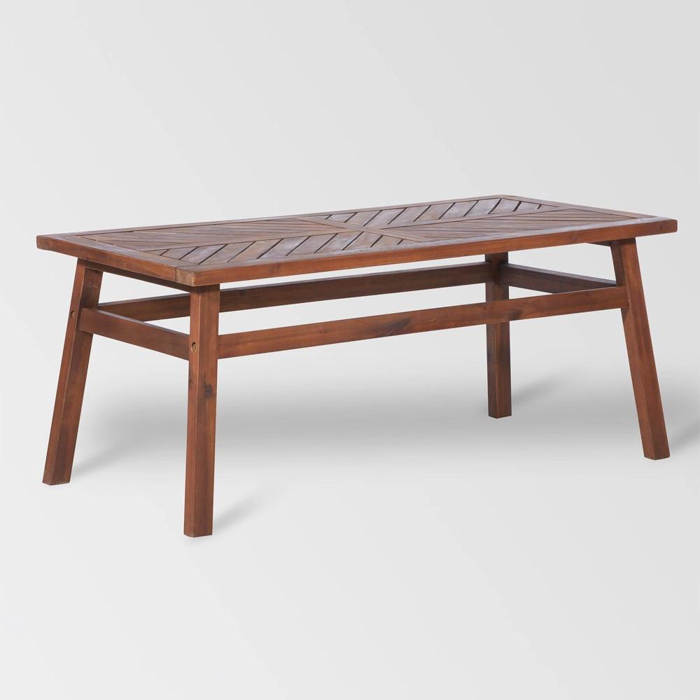Wood Patio Coffee Table Brown Saracina Home