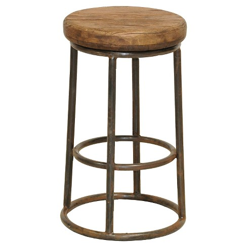 Sensational Backless 24 Counter Stool Metal Brown Gmtry Best Dining Table And Chair Ideas Images Gmtryco
