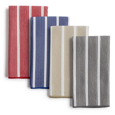 8pk Rainbow Striped Barmops Navy/Beige/Gray - Town & Country Living
