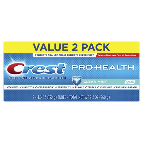 Crest Pro-Health Smooth Formula Toothpaste Clean Mint Paste - 4.6oz/2pk - image 1 of 6