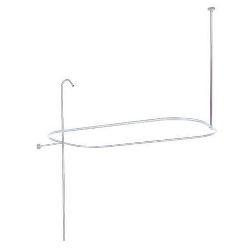 Oval Shower Rod With Support Chrome - Kingston Brass - image 1 of 1