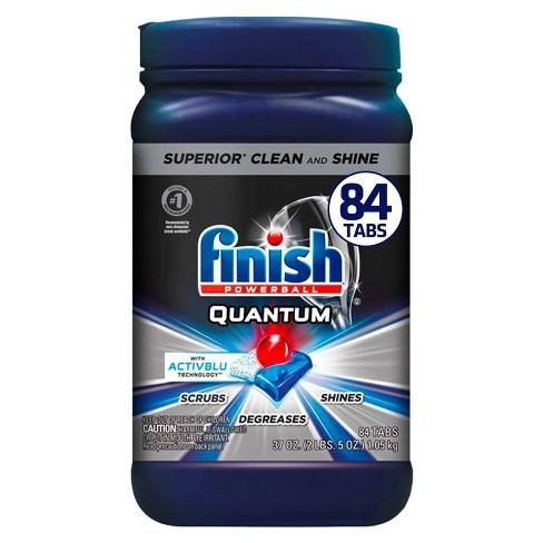 Finish Quantum Ultimate Clean & Shine Dishwasher Detergent Tablets - 84ct