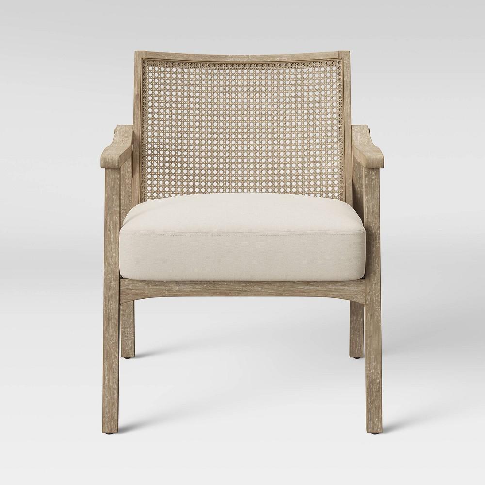 Chelmsford Cane Lounge Chair Natural - Threshold, White