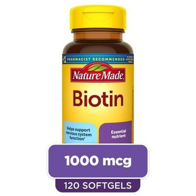 Nature Made Biotin 1000 mcg Softgels - 120ct