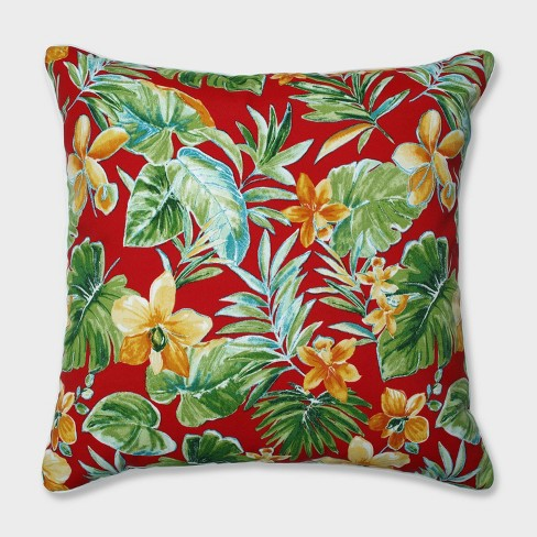 """25"""" Beachcrest Poppy Floor Pillow Red - Pillow Perfect - image 1 of 1"""