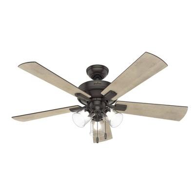 "52"" LED Crestfield Ceiling Fan (Includes Energy Efficient Light Bulb)Bronze - Hunter"