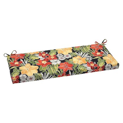 Pillow Perfect Clemens Outdoor Bench Cushion - Black