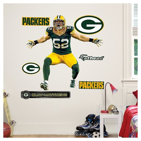 NFL Green Bay Packers Clay Matthews Fathead Wall Decal Set - image 1 of 1