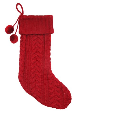 Cable Knit Christmas Stocking Red - Wondershop™ - image 1 of 1