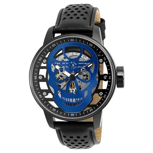 Men's Invicta 20197 S1 Rally Mechanical 3 Hand Blue Dial Strap Watch - Black - image 1 of 1