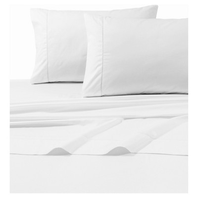 Egyptian Cotton Sateen Deep Pocket Solid Sheet Set (Queen)4pc White 800 Thread Count - Tribeca Living®