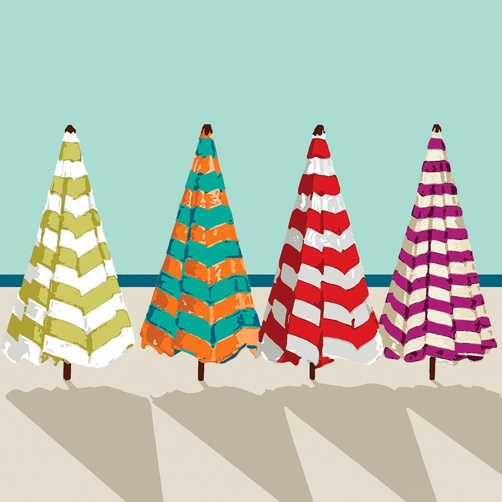 Image of Thirstystone Beach Umbrellas 4 Piece Occasions Coaster Set