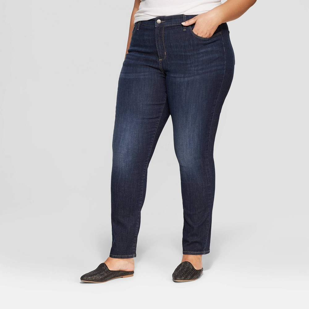 Women's Plus Size Skinny Mid-Rise Jeans - Universal Thread Dynamic Blue 14W