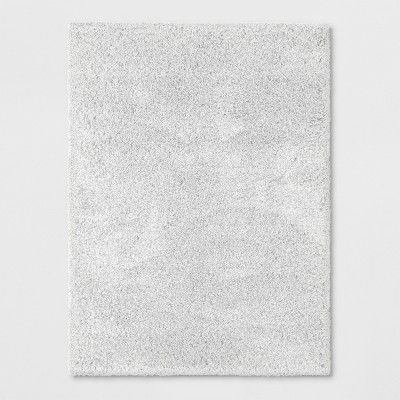 5'X7' Solid Eyelash Woven Shag Rug Cream - Project 62™