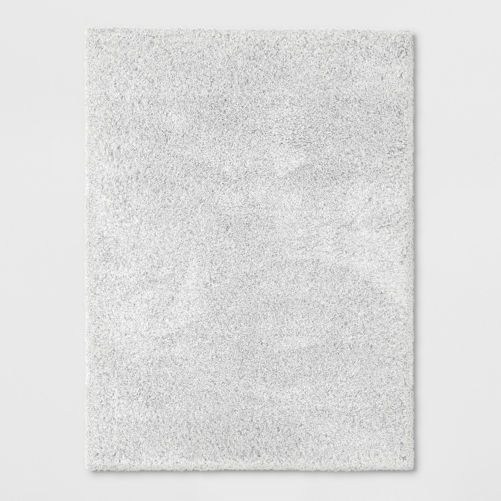 5'X7' Solid Eyelash Woven Shag Rug Cream (Ivory) - Project 62