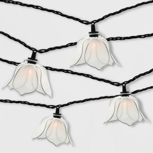 10ct Incandescent Flower Outdoor String Lights White - Threshold™ - image 1 of 2