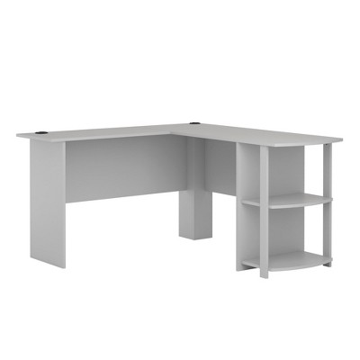 Fieldstone L Shaped Desk with Bookshelves Gray - Room & Joy