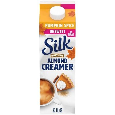 Silk Dairy-Free Unsweet Pumpkin Spice AlmondMilk Coffee Creamer - 1qt