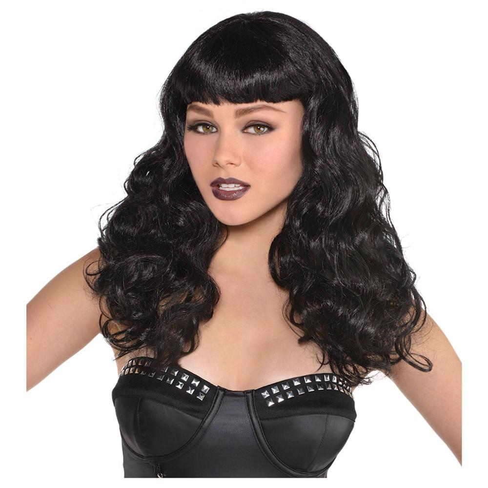 Black Waves Halloween Costume Wig