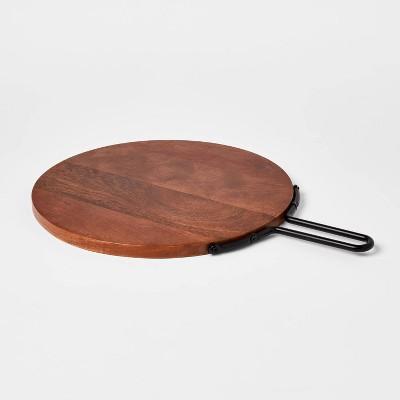 "18"" x 13"" Wood Round Serving Board - Threshold™"